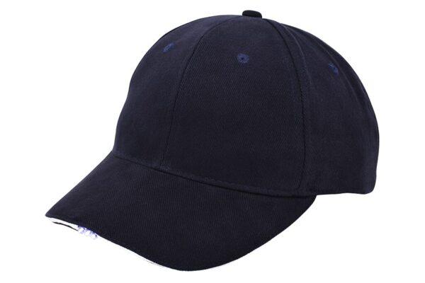 Heavy brushed cap met ledverlichting