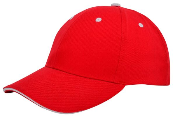 Brushed sandwich cap