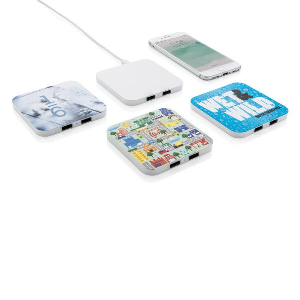 10W draadloze snellader met USB poorten