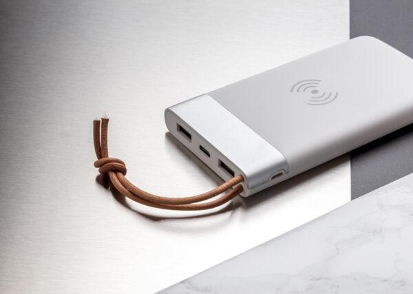 Aria 8.000 mAh powerbank met draadloos opladen