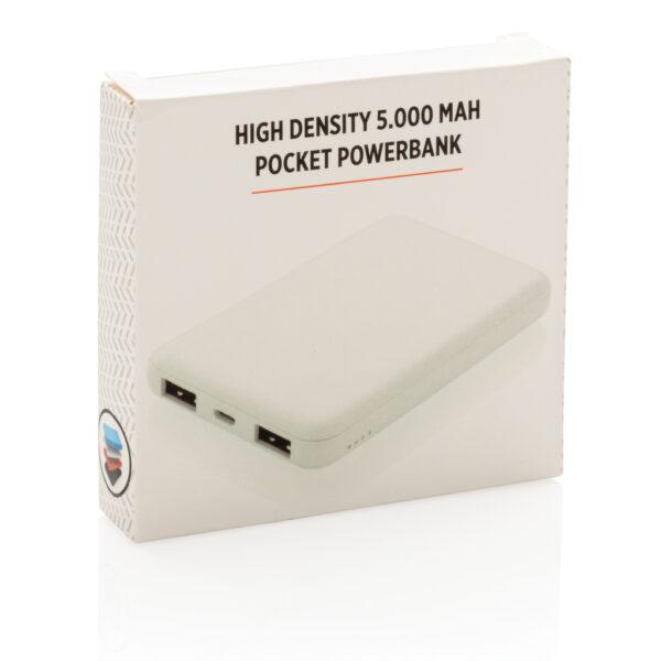 High density 5.000 mAh zakformaat powerbank