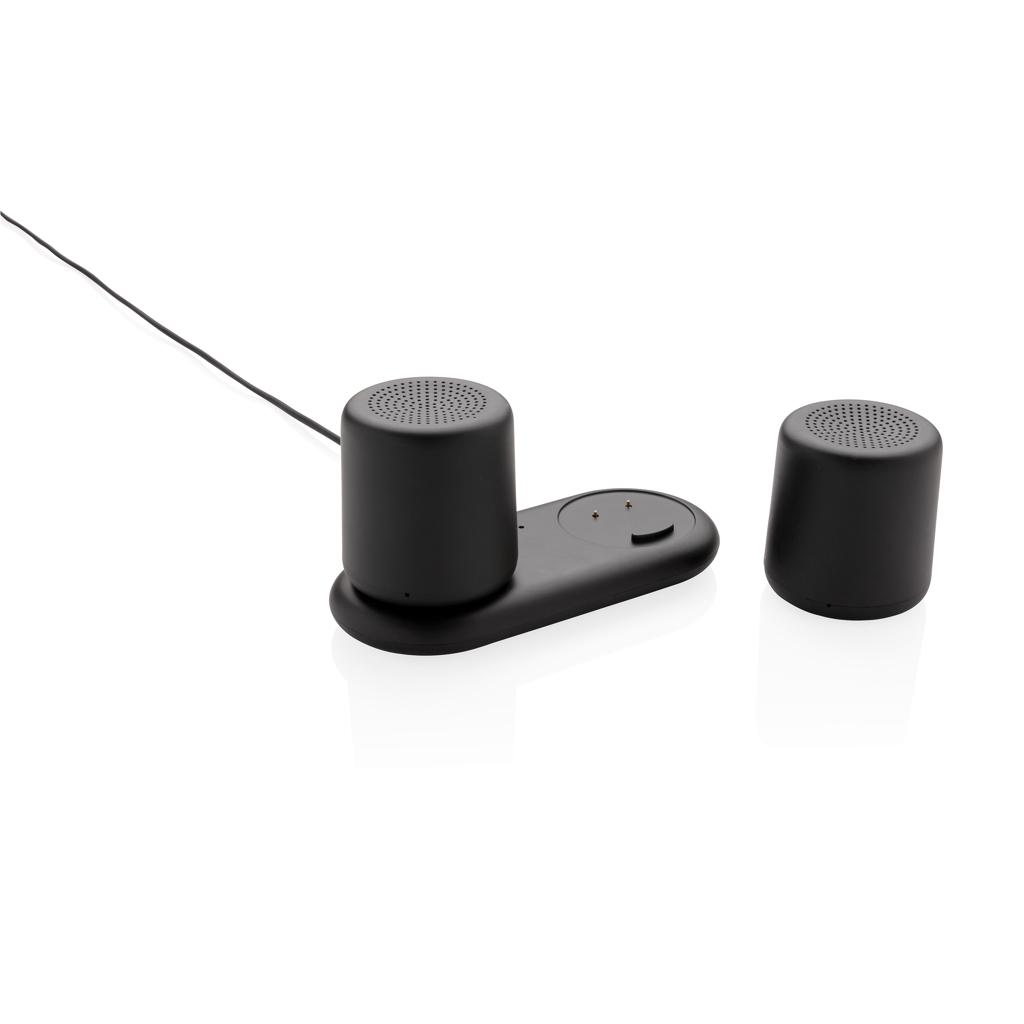 Dubbele 3W speaker met inductielader
