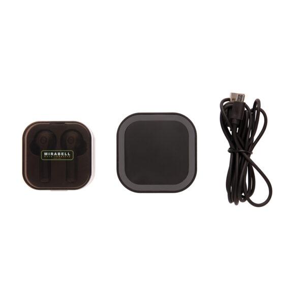 TWS oordoppen in oplaadcassette en draadloze oplader