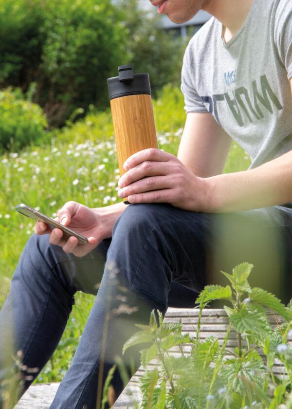 Bogota bamboe lekvrije isoleer koffiebeker
