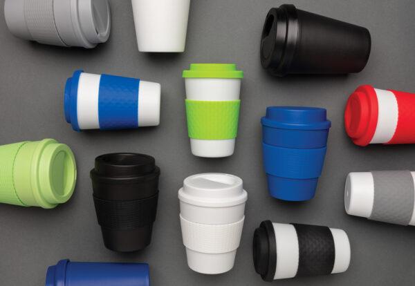 Herbruikbare koffiebeker met schroefdop 350ml