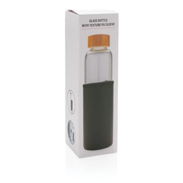 Glazen fles met PU sleeve