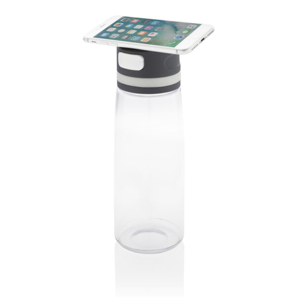Fit waterfles met telefoonhouder