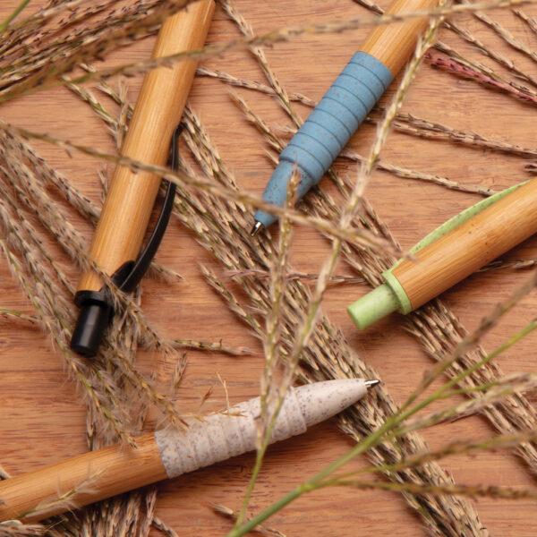 Bamboe & tarwestro pen