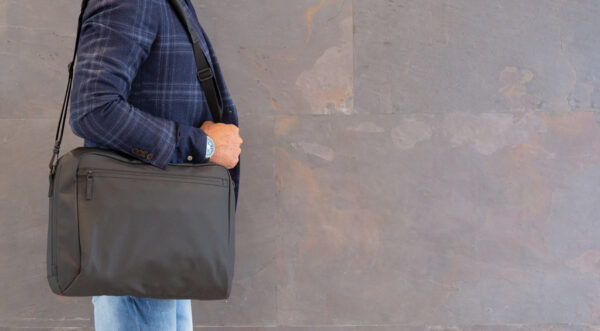 "Fashion black PVC vrije 15.6"" laptop tas"