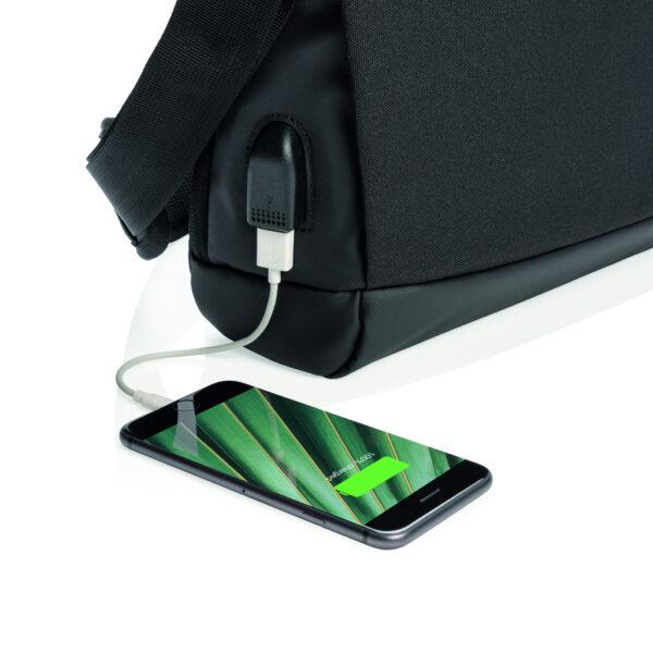"Madrid RFID USB 15.6"" laptop tas PVC-vrij"