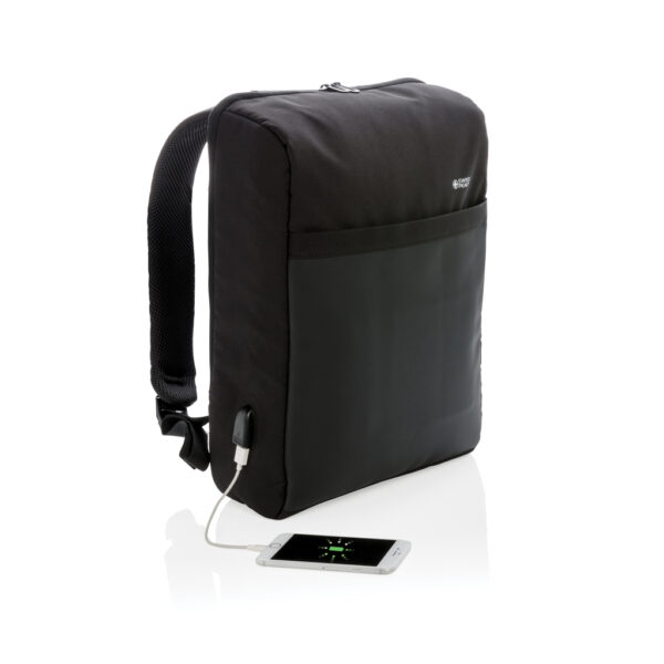 "Lima PVC-vrije 15.6"" RFID laptop tas"