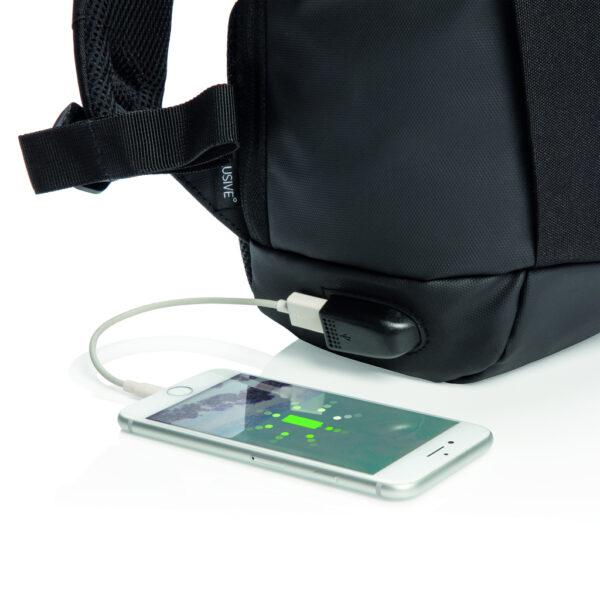 Madrid RFID USB anti-diefstal laptop rugzak PVC-vrij