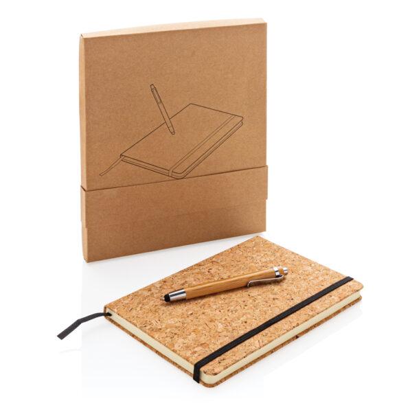 A5 kurken notitieboek incl. touchscreen pen