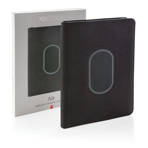 Air portfolio A4 met 5W draadloze 4.000 mAh powerbank