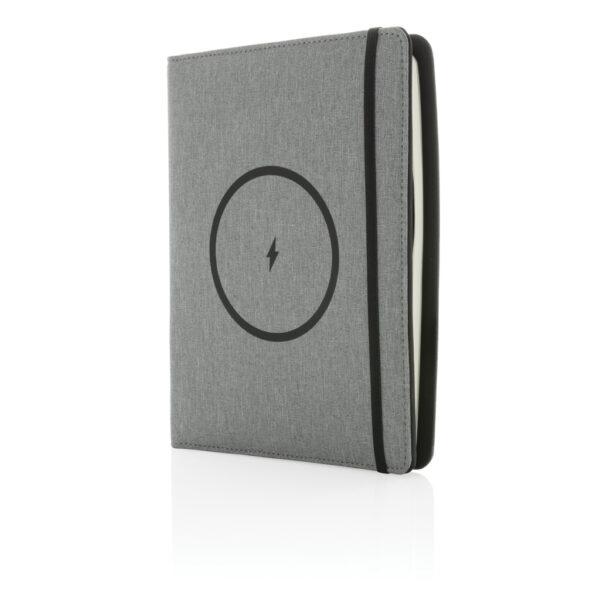 Air 5W rPET A5 notitieboek omslag met draadloos opladen