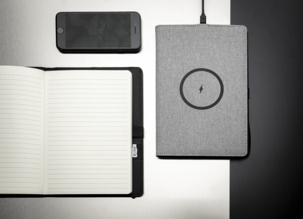 Air 5W rPET navulbaar A5 notitieboek  & draadloze oplader