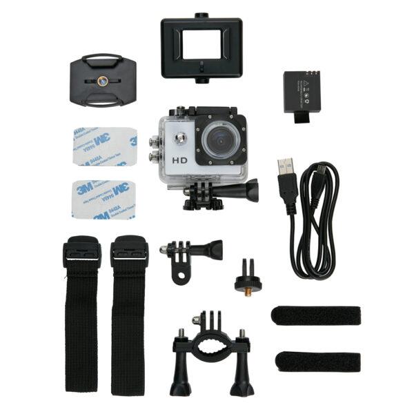 Action camera inclusief 11 accessoires