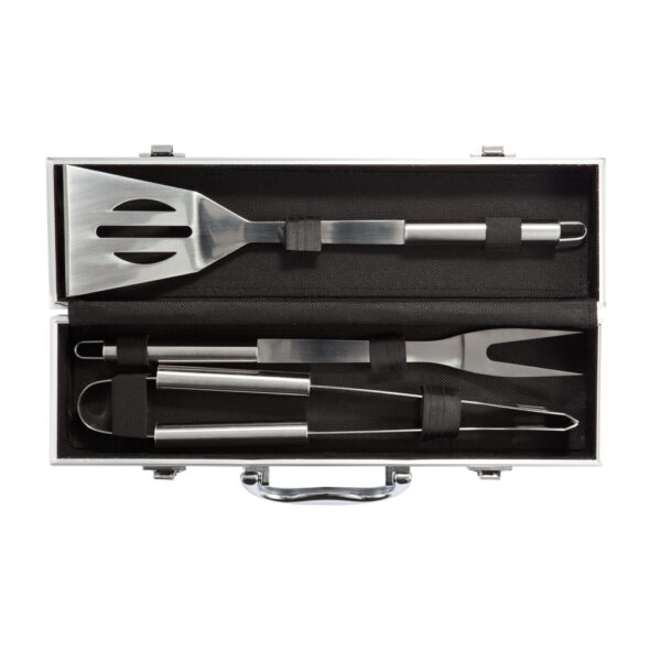 3-delige barbecue set in aluminium koffer