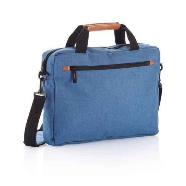 PVC vrije fashion duo tone laptop tas