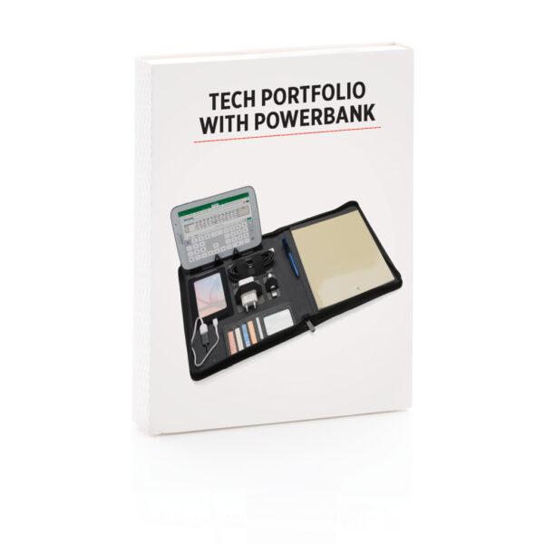 Tech portfolio met 4.000 mAh powerbank
