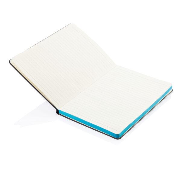 Deluxe hardcover A5 notitieboek met gekleurde zijde