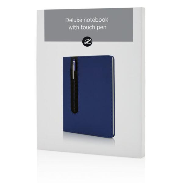 Standaard hardcover PU A5 notitieboek met stylus pen
