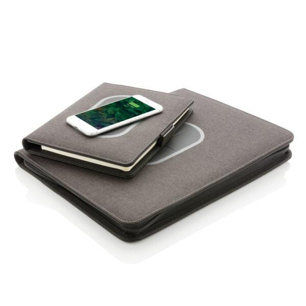 Air notebook cover A5 met 5W draadloze 4.000 mAh powerbank