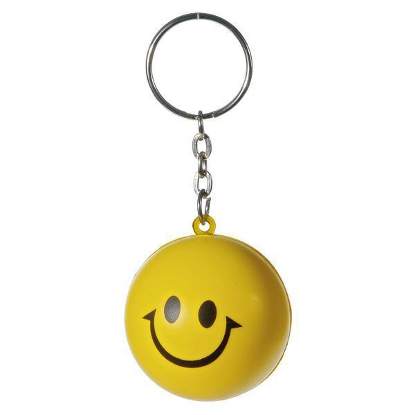 Anti stress sleutelhanger smiley bedrukken