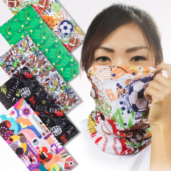 Multifunctionele sjaal of bandana all-over full colour bedrukken